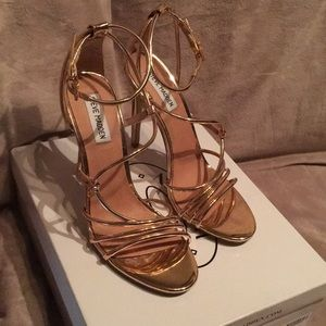 Steve Madden Smith Strappy Sandal Rose Gold Sz 9
